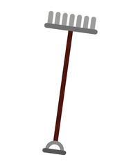 gardening rake isolated icon design
