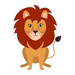 Circus lion feline cartoon design, vector illustration graphic.