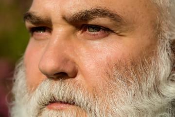 setious bearded man outdoor