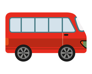 red van isolated icon design