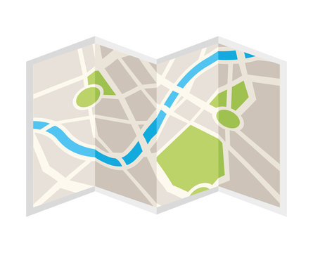 paper map isolated icon design