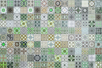 Ceramic tiles patterns from Thailand