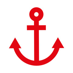 anchor red isolated icon design