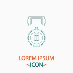 silver medal computer symbol
