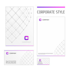 Corporate style template grid white