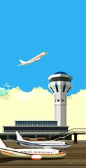 airport building vector illustration