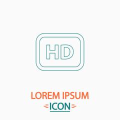 HD computer symbol