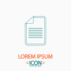 Document computer symbol
