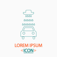 Car wash icons set - vector computer symbol