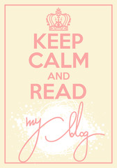 Vector poster with quote keep calm and blog on
