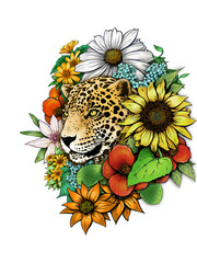 jaguar on the flower
