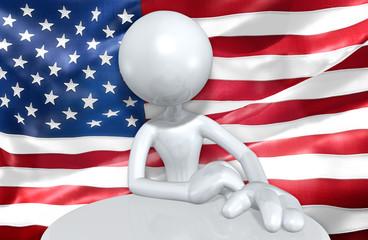 United States Of America U.S. Flag Concept