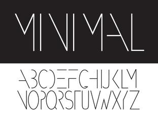 Minimal alphabet. Font design, EPS 10 vector.