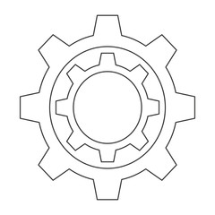flat design couple gears icon vector illustration