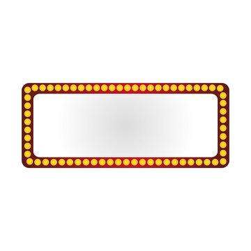flat design lightbulb frame icon vector illustration