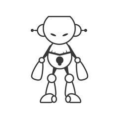 Machine concept represented by robot cartoon icon. Isolated and flat illustration