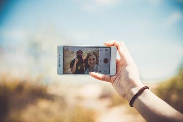 Selfie on a phone