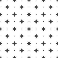 Seamless stars pattern. Vector seamless on white background