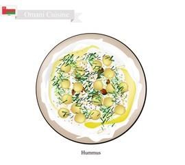 Hummus or Omani Chickpeas Spread Dip or Spread