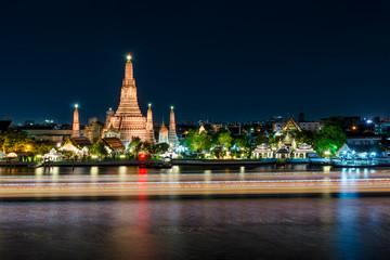 Wat arun at night in Bangkok, Thailand. Famous place in Bangkok.