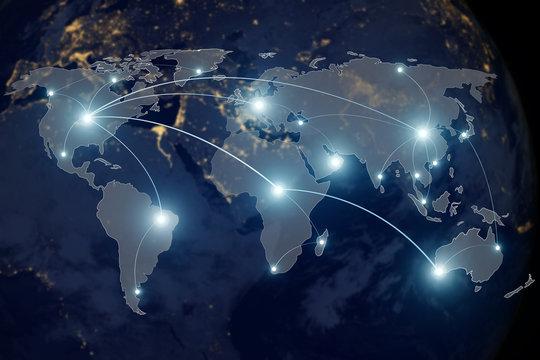 Network connection technology concept - Network connection partn