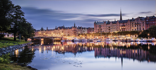 Sweden, Stockholm, View of city