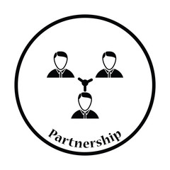 Businessmen connection icon