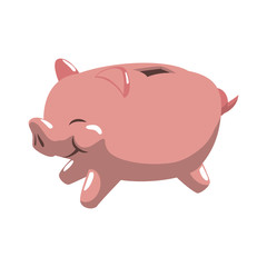 Money concept represented by Piggy icon. Isolated and flat illustration