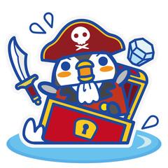 ペンギンカフェ 海賊+宝箱