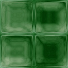 Generated glass green square