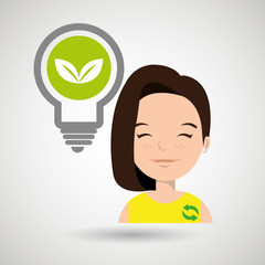 woman and environment isolated icon design, vector illustration  graphic