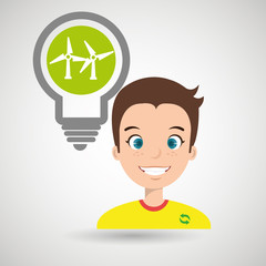 man and environment isolated icon design, vector illustration  graphic