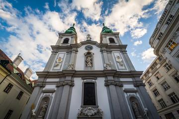Church of Mariahilf, in Vienna, Austria.