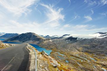 Norway, More og Romsdal, Sunnmore, View of Geirangerfjord from Trollstigen Road