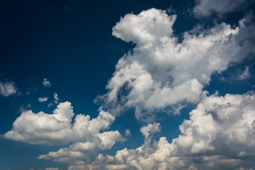 Beautiful clouds in the sky, in Shenandoah National Park, Virgin