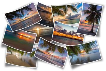 coucher du soleil aux Seychelles