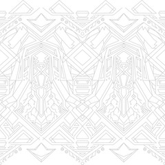 Gray outline pattern