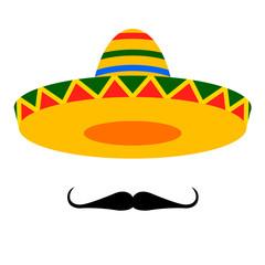 sombrero moustache