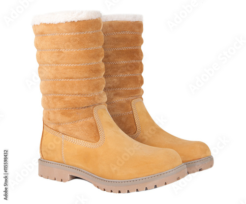 56710e07ac all-weather yellow shoes isolated on a white background