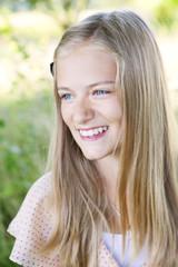 Sweden, Stockholm, Portrait of girl (12-13)