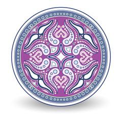 Round pattern decorative element