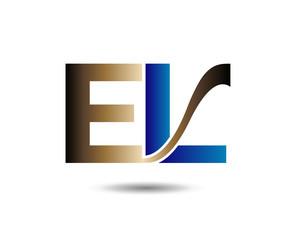 Letter E and L logo