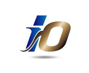 Unusual i and O Business logo template io logo icon