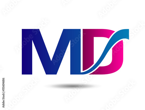 quotletter md logo vector quot stock image and royaltyfree