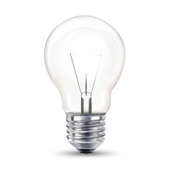 Light bulb, isolated,