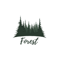 Forest logo isolated on white background.