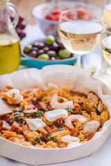 mediterranean seafood paella