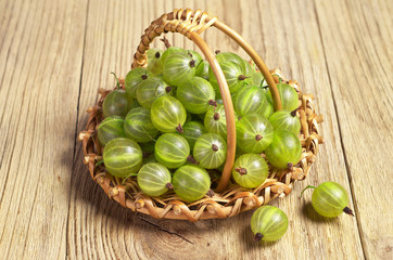 Gooseberries in basket