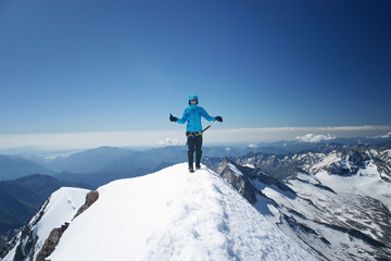 Woman on a summit