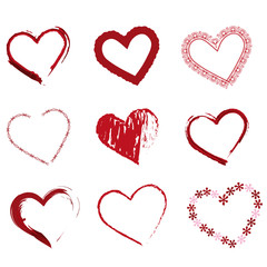 creative heart collection icons